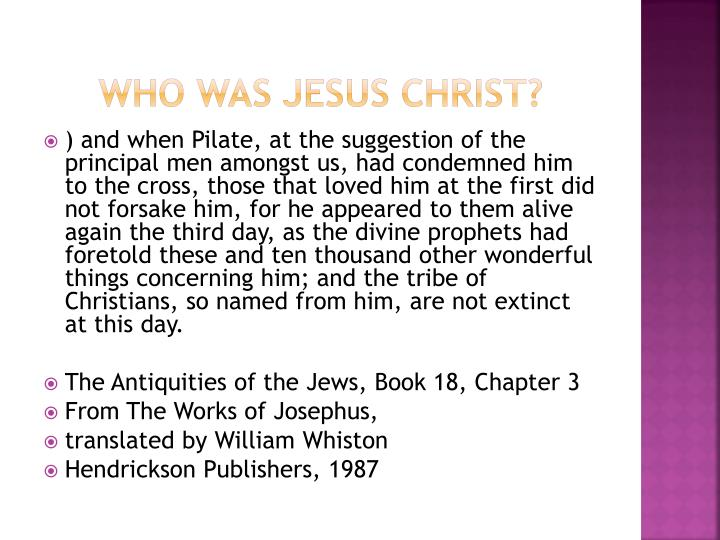 Who Was Jesus Christ?