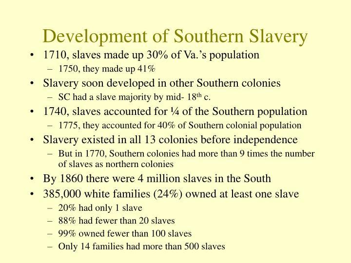 Development of Southern Slavery