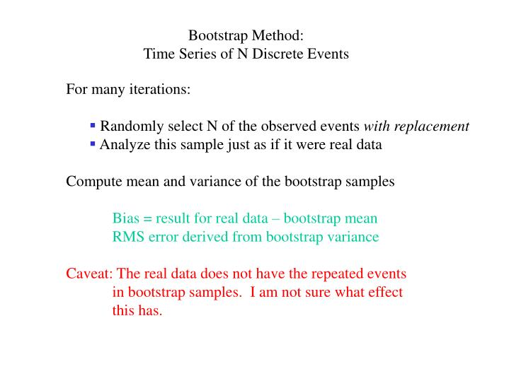 Bootstrap Method: