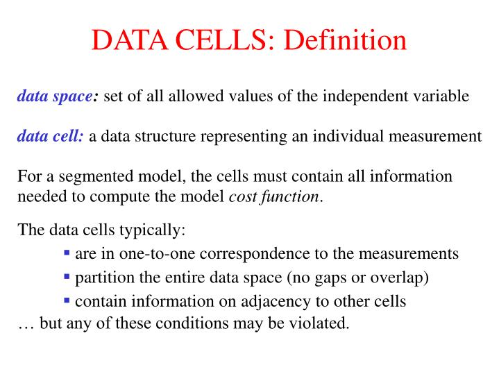 DATA CELLS: Definition