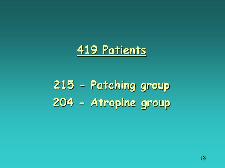 419 Patients