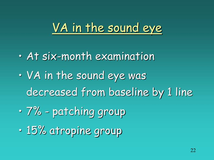 VA in the sound eye