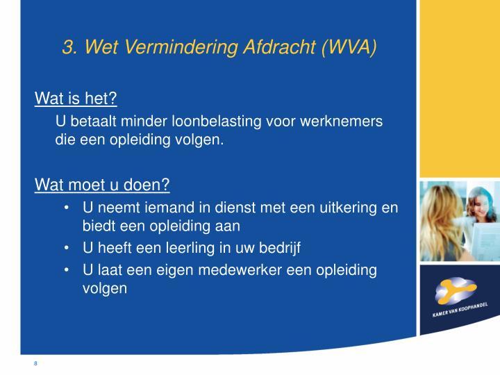 3. Wet Vermindering Afdracht (WVA)