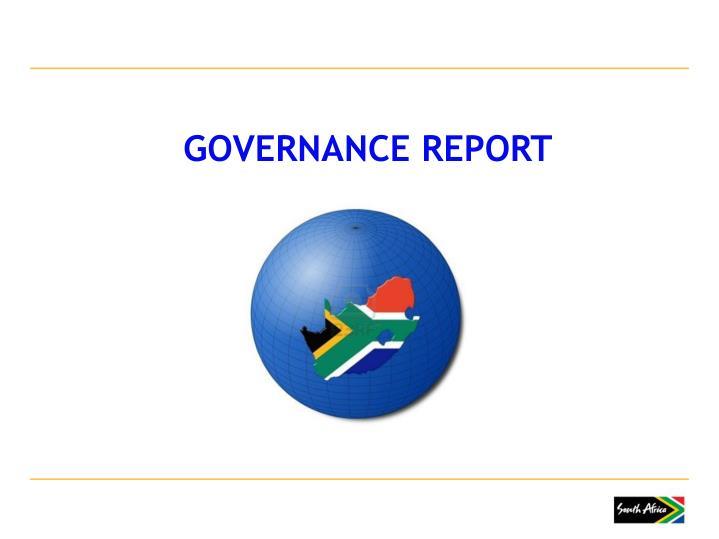 GOVERNANCE REPORT