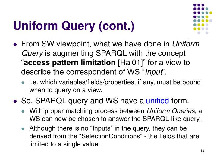 Uniform Query (cont.)