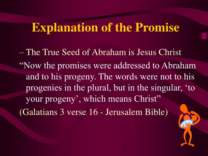 The True Seed of Abraham is Jesus Christ