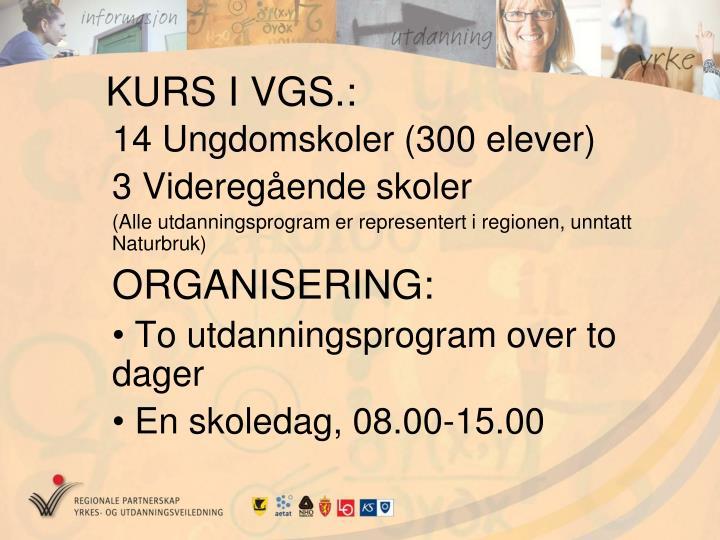 KURS I VGS.: