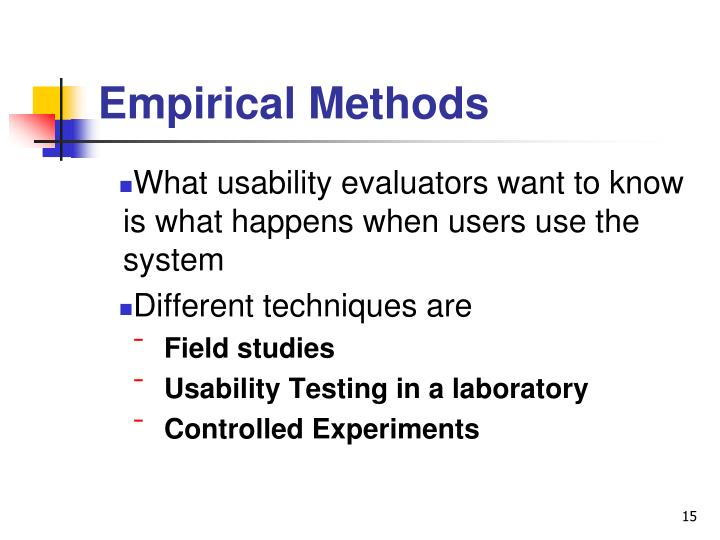 Empirical Methods