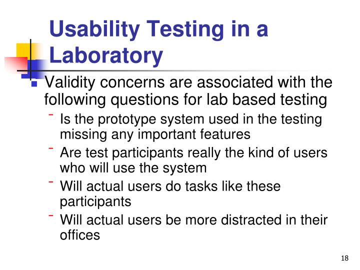 Usability Testing in a Laboratory