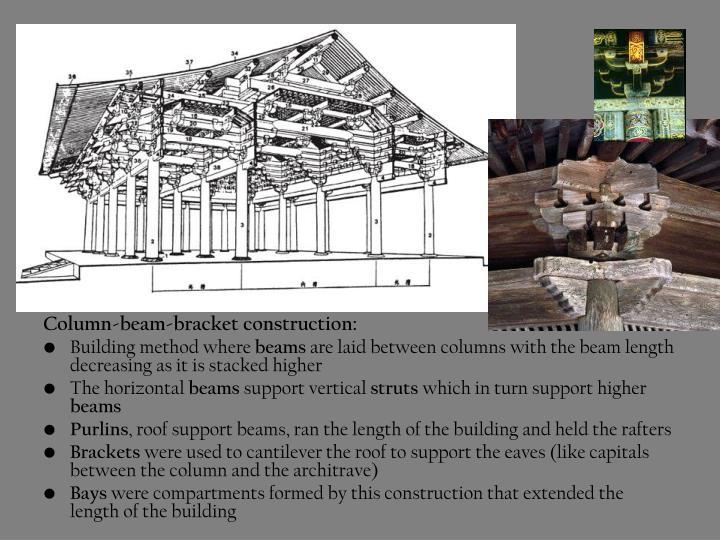 Column-beam-bracket construction: