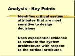 analysis key points