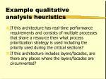 example qualitative analysis heuristics