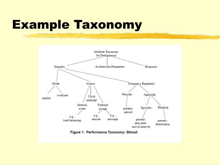 Example Taxonomy