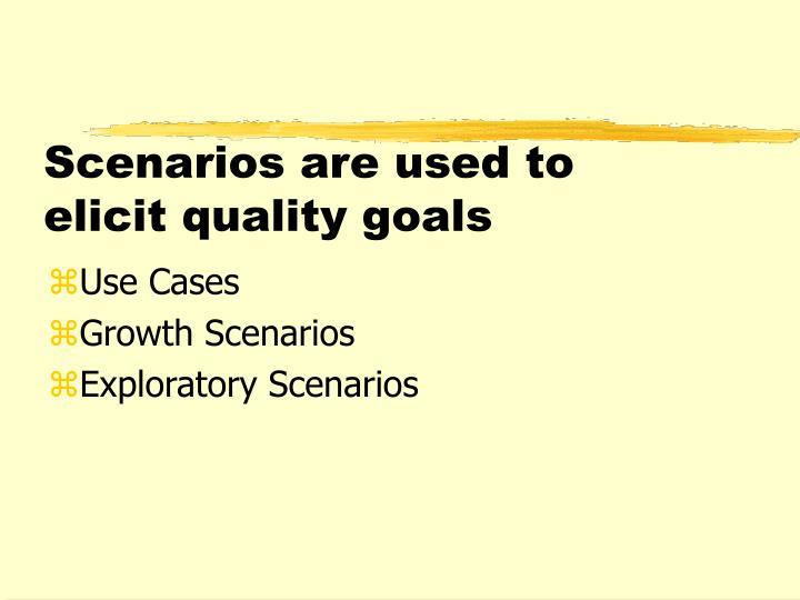 Scenarios are used to elicit quality goals