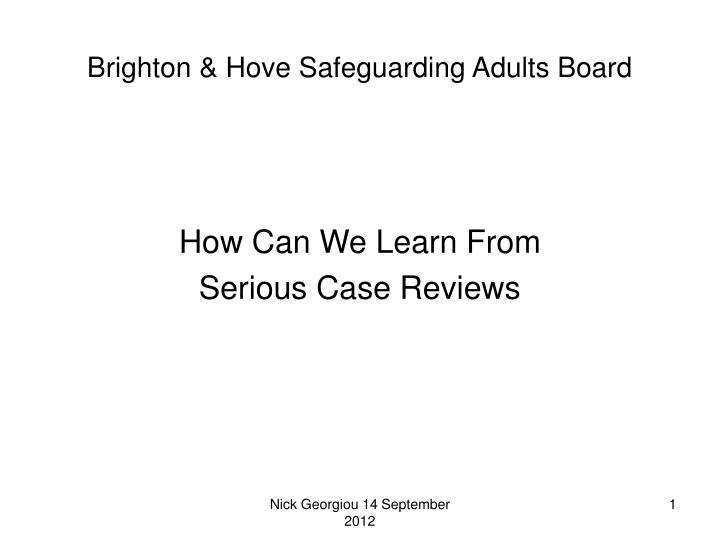 Brighton hove safeguarding adults board