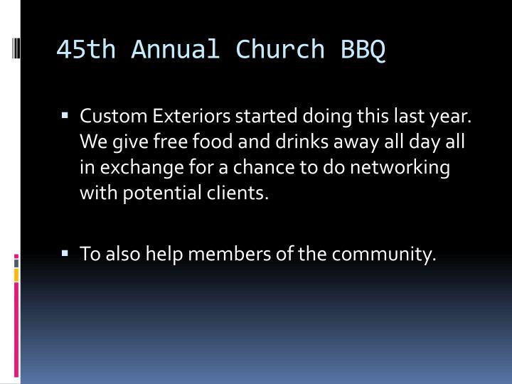 45th Annual Church BBQ