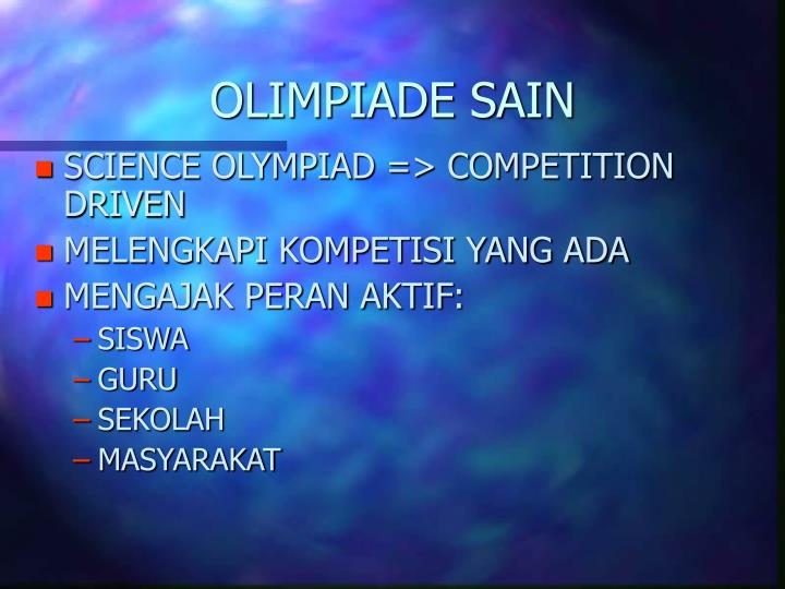OLIMPIADE SAIN