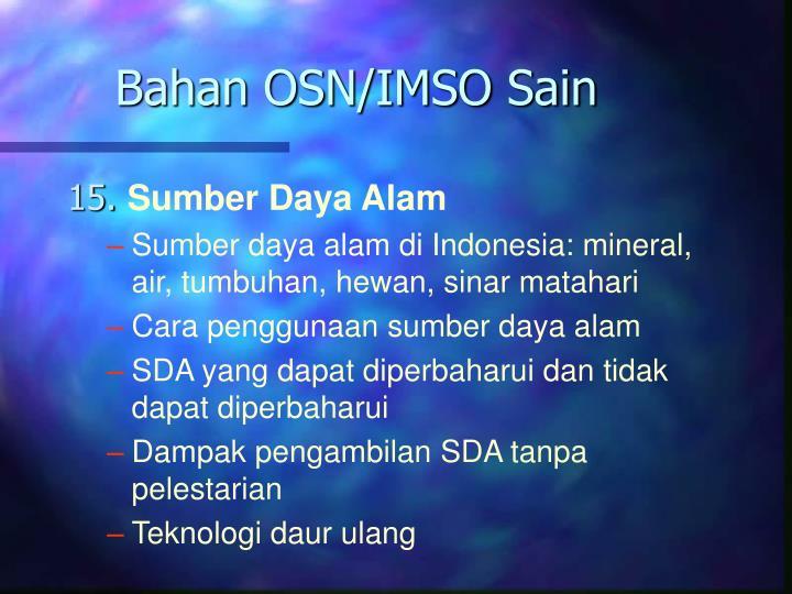 Bahan OSN/IMSO Sain