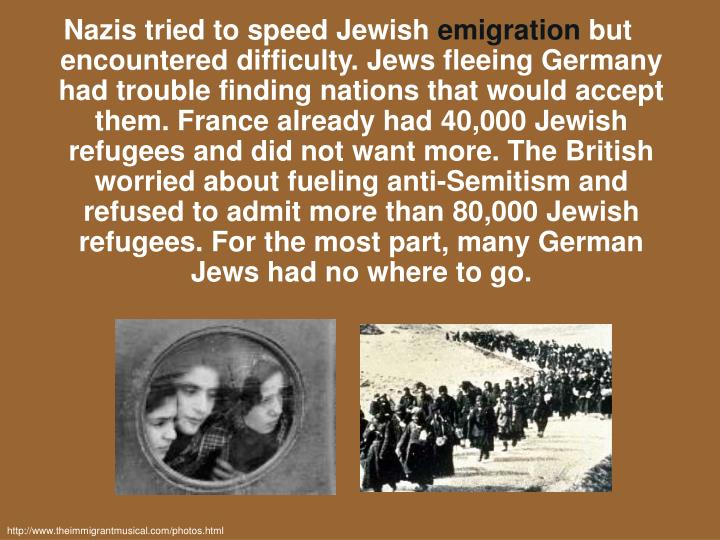 Nazis tried to speed Jewish