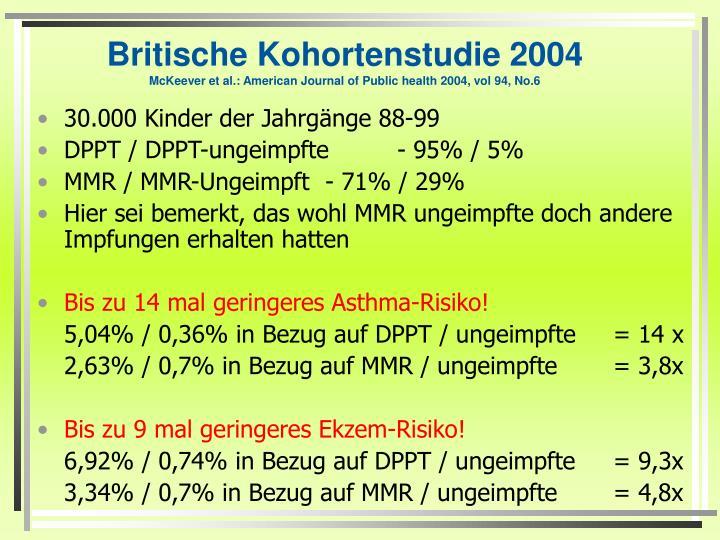 Britische Kohortenstudie 2004
