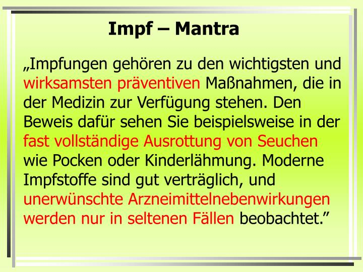 Impf – Mantra
