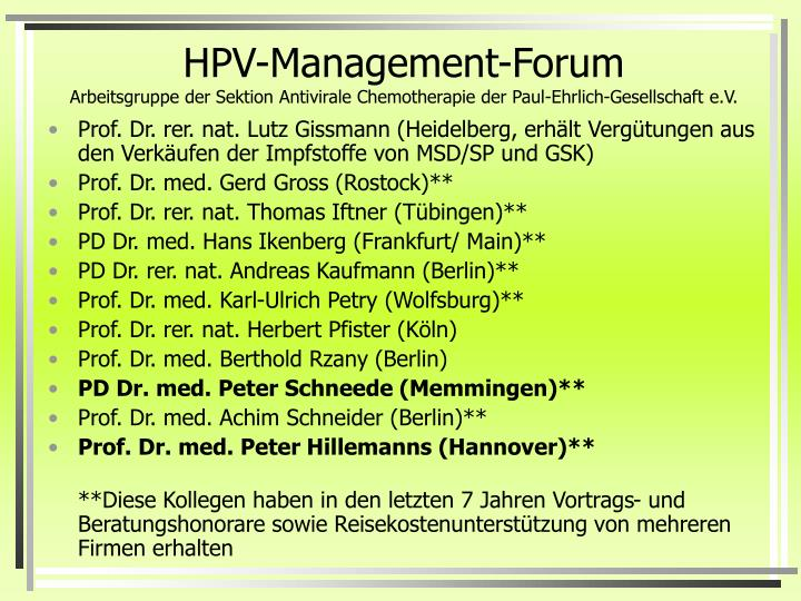 HPV-Management-Forum