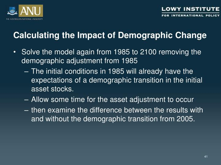 Calculating the Impact of Demographic Change