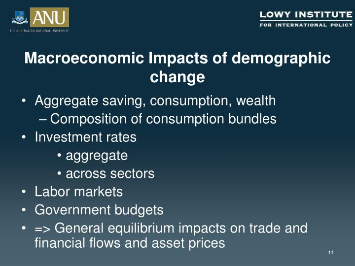 Macroeconomic Impacts of demographic change