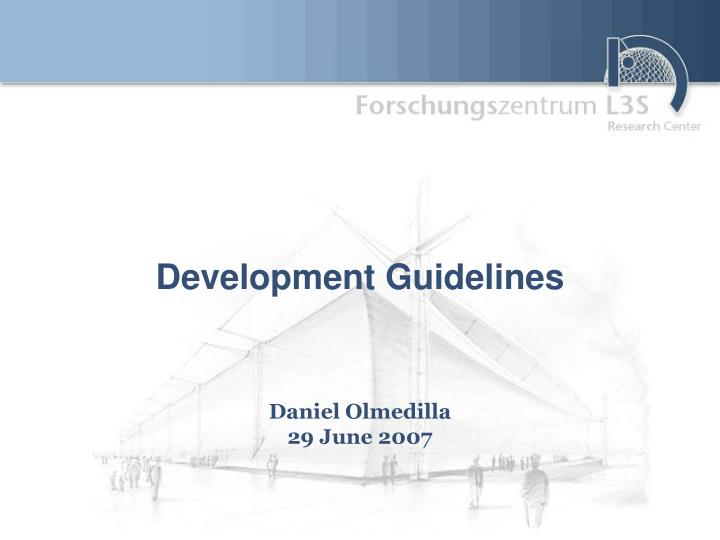 Development guidelines