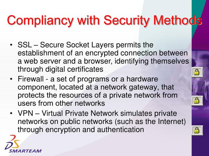 Compliancy with Security Methods