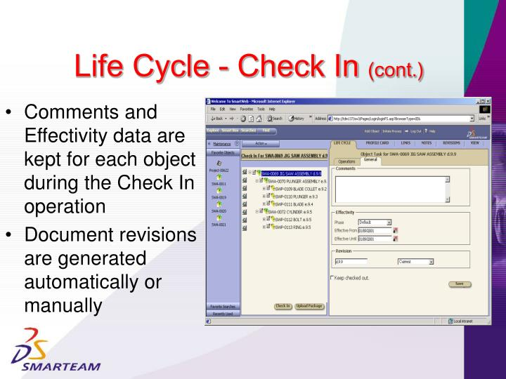 Life Cycle - Check In