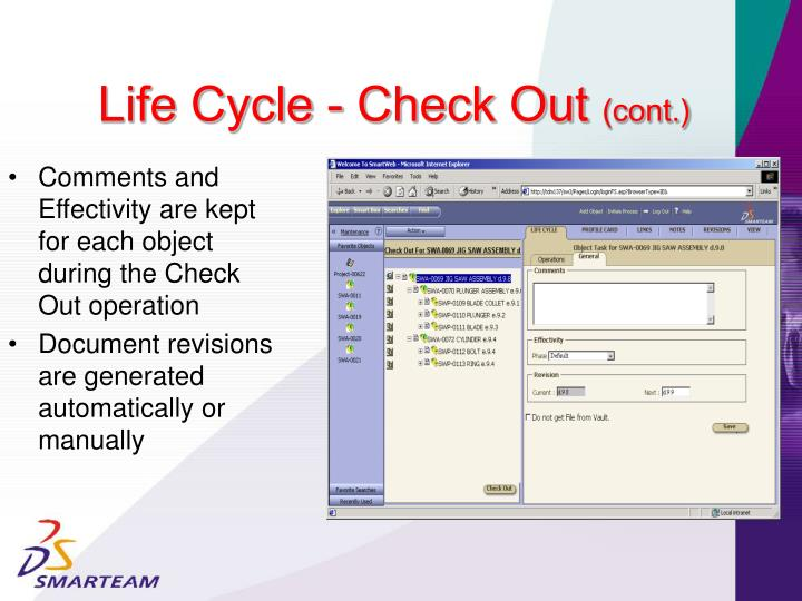 Life Cycle - Check Out