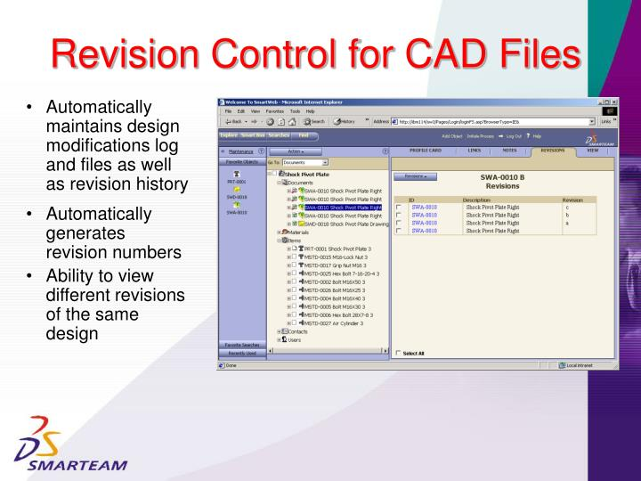 Revision Control for CAD Files