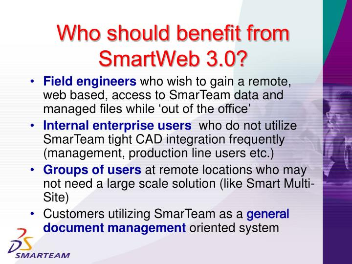 Who should benefit from SmartWeb 3.0?