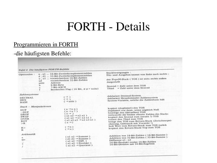 Programmieren in FORTH