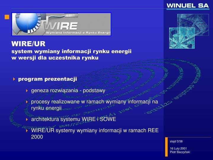 WIRE/UR