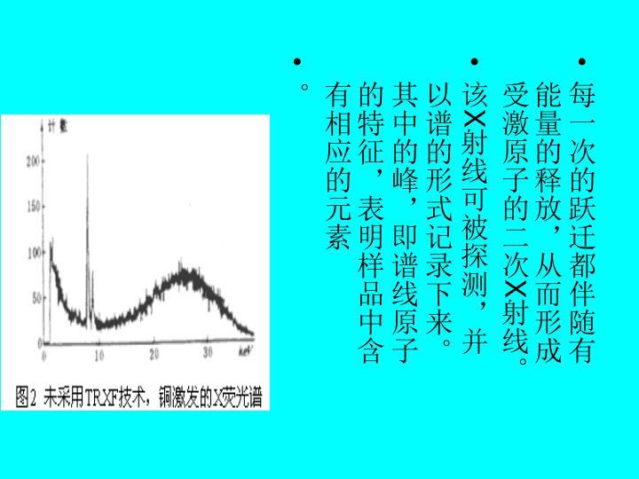 每一次的跃迁都伴随有能量的释放,从而形成受激原子的二次
