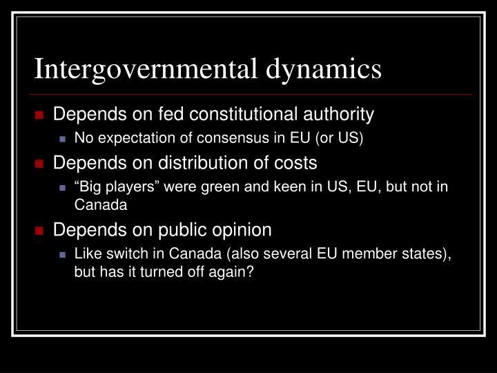 Intergovernmental dynamics