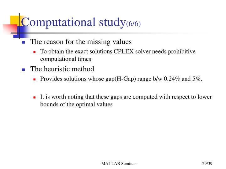 Computational study