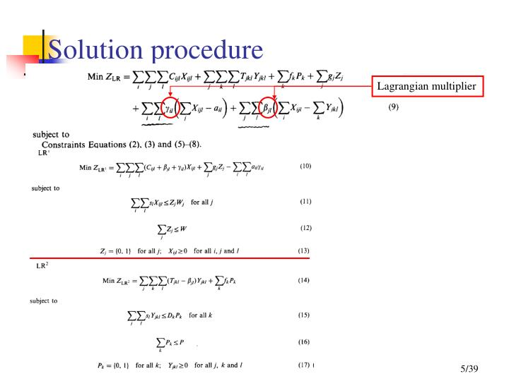 Solution procedure