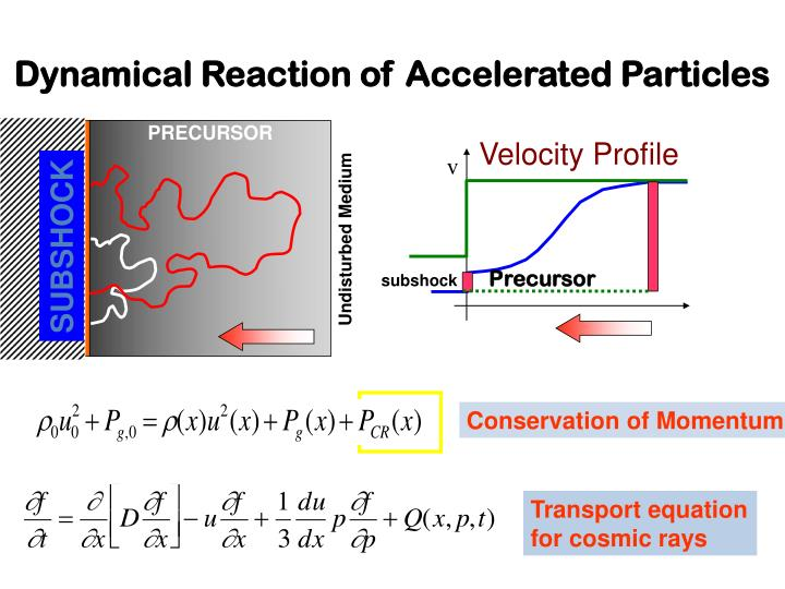 Dynamical Reaction of Accelerated Particles