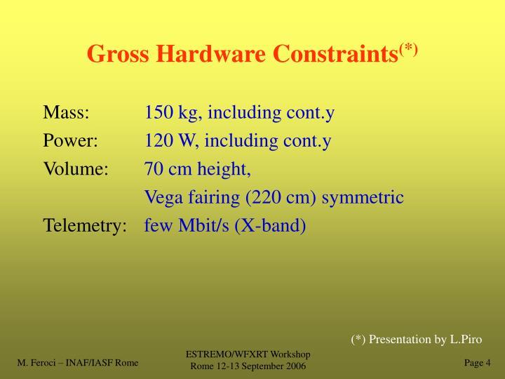 Gross Hardware Constraints