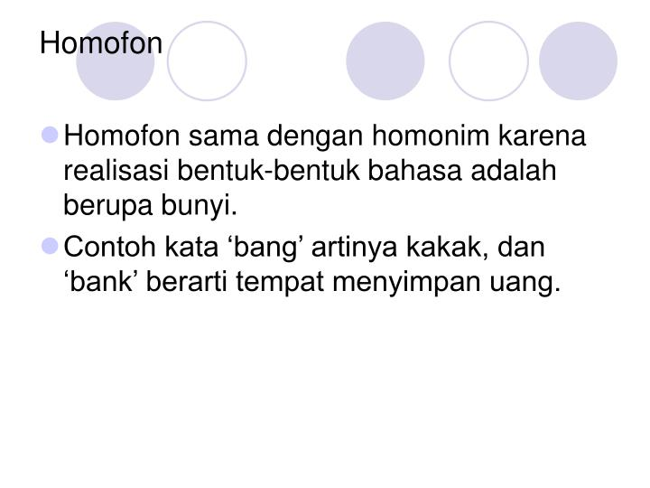 Homofon