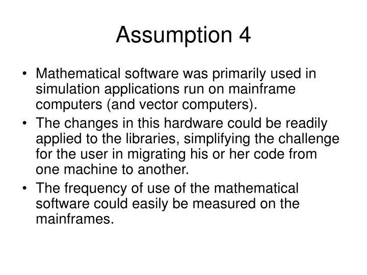 Assumption 4