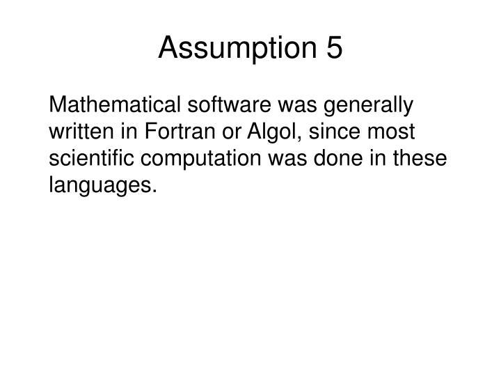 Assumption 5