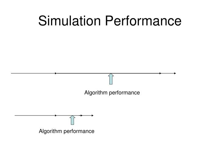 Simulation Performance