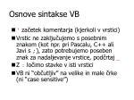 osnove sintakse vb1