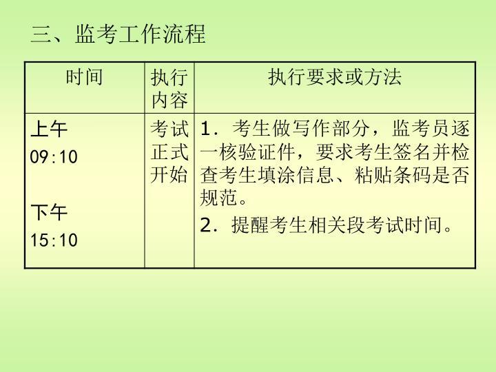 三、监考工作流程