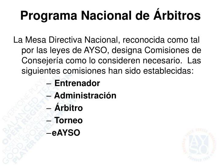 Programa Nacional de Árbitros