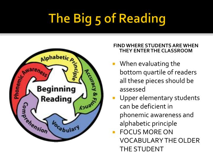 The Big 5 of Reading